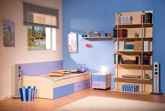 儿童家具/儿童套房(儿童床+书柜/书架)-现代简约家具